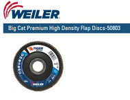 "Weiler Big Cat Premium High Density Flap Discs  4-1/2"" x 7/8""  Grit/40  10/pk 50803"
