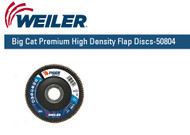 "Weiler Big Cat Premium High Density Flap Discs  4-1/2"" x 7/8""  Grit/60 10/pk 50804"