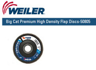 "Weiler Big Cat Premium High Density Flap Discs  4-1/2"" x 7/8""  Grit/80 10/pk 50805"