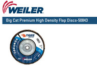 "Weiler Big Cat Premium High Density Flap Discs  7"" x 5/8""-11 UNC  Grit/40 10/pk 50843"