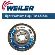 "WeilerTiger Premium Angled Flap Discs  4-1/2"" x 7/8"" Grit/60 10/pk 50514"