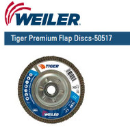 "WeilerTiger Premium Angled Flap Discs  4-1/2"" x 5/8""-11 nut Grit/36 10/pk 50517"