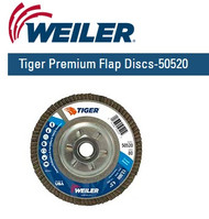 "Weiler Tiger Premium Angled Flap Discs  4-1/2"" x 5/8""-11 nut Grit/80 10/pk 50520"