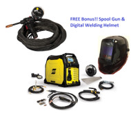 ESAB Rebel EMP 285ic Mig/Stick/Tig Welder 1PH (0558102554) w/ FREE Digital Helmet & Spool Gun