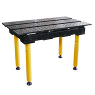"Strong Hand BuildPro Slotted 2' x 3' x 36"" MAX Welding Table"