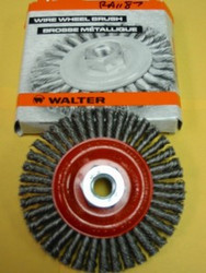 "WALTER WIRE WHEEL BRUSH 4.5""x3/16""x5/8""-11 -QTY/1- 13K454"