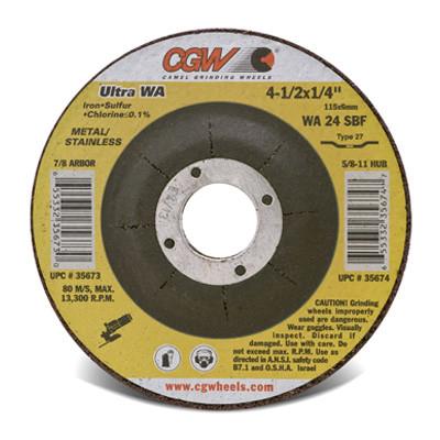 """CGW Camel Cut-Off Wheels 5/"""" x .045/"""" x 7//8/""""  WA60-R Type 27 Qty 25-45006"""