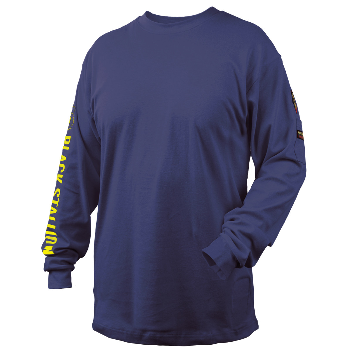 FR Cotton Knit Long-Sleeve T Black Stallion TF2510-GY NFPA 2112 /& NFPA70E 7 oz