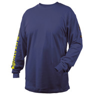 Black Stallion TF2510-NV NFPA 2112 & NFPA70E 7 oz. FR Cotton Knit Long-Sleeve T-Shirt, Navy