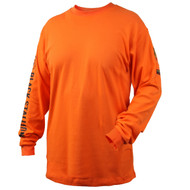 Black Stallion TF2510-OR NFPA 2112 & NFPA70E 7 oz. FR Cotton Knit Long-Sleeve T-Shirt, ORANGE