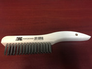 "Jaz 80440 Stainless Steel/Wood Hand Scratch Brush 4x16 10"" x 1-1/8"""