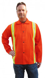 "Tillman 6230DRQ Firestop Welding Jacket 30"" 9oz  Reflective Orange"