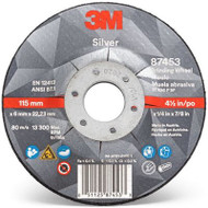"3M 87453  10pk  4-1/2"" x 1/4"" x 7/8"" Precision Shaped Ceramic Grain Type 27 Grinding Wheel"
