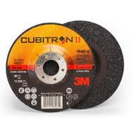 """3M 78467-Q  Cubitron II Depressed Center Grinding Wheel  5"""" x 1/4"""" x 7/8"""" T27"""