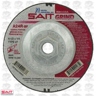 "Sait 20163 4-1/2"" x 5/8""-11 x 1/4"" Metal Cutting Grind Wheel QTY-10"