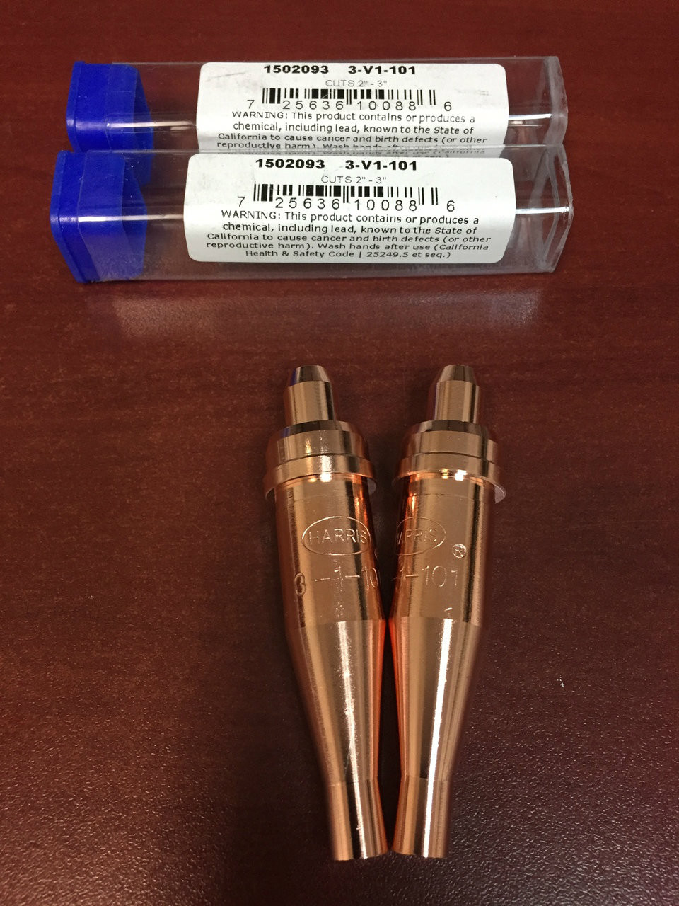 2 Acetylene Cutting Torch Tips 1-1-101 FITS VICTOR New!