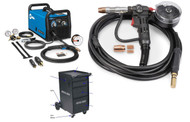 MM 211 MIG Welder BUNDLE w/ spoolgun, cart & wire - 907614