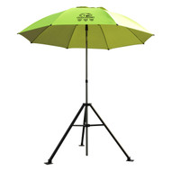 Revco Black Stallion UB250-YEL Core Flame-Resistant Industrial Umbrella & Stand, Yellow/Lime