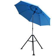Revco Black Stallion UB250-BLU Core Flame-Resistant Industrial Umbrella & Stand, Blue