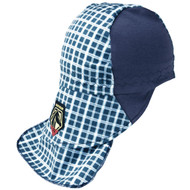 Revco BlackStallion AH1730-BL FR Cotton Welding Cap with Hidden Bill Extension, Blue Plaid