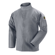 Black Stallion JF2220-GY NFPA 2112 & NFPA 70E 9 oz. FR Cotton Welding Jacket