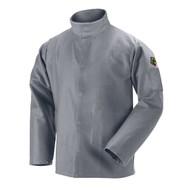 Black Stallion JF2220-GY NFPA 2112 & NFPA 70E 9 oz. FR Cotton Welding Jacket