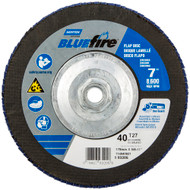 "BlueFire 4-1/2"" x 5/8-11 R884P ZA Coarse Grit Arbor Thread Fiberglass Conical Flap Disc box/10"