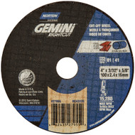 Norton 23604 Gemini RightCut A AO Type 01/41 Right Angle Cut-Off Wheel 25/bx