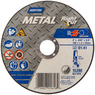 Norton 43846 Metal RightCut A AO Type 01/41 Right Angle Cut-Off Wheel 25/bx