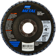 "Norton 37004 Metal® 4 1/2"" X 7/8"" 40 Grit Type 27 Flap Disc 10/bx"