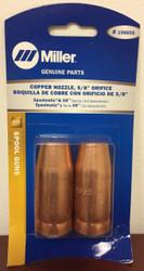 """Miller Genuine Copper Nozzle, 5/8"""" orifice for Spoolmatic & XR - 2pk - 198855"""