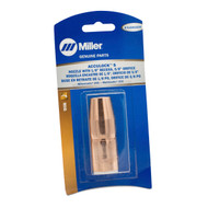 "Miller N-A5818CM AccuLock™ S Large Thread-On Nozzle, 5/8"" Orifice, 1/8"" Tip Recess, Copper (Miller blister pack, 1 per pkg)"