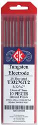 "Tungsten Electrodes  3/32"" x 7"" 2% THORIATED by CKW"