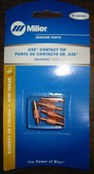 """Miller Genuine .035"""" Contact Tips for Spoolmate 3035 - Qty 5 - 186406"""
