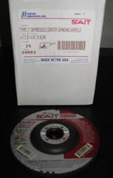 SAIT 20063 4-1/2 x 1/4x7/8 A24R GRINDING WHEELS - QTY25