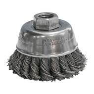 """CGW Camel - Stainless Steel Knot Cup Brush 2-3/4"""" dia x 5/8""""-11 - Qty 1 - 60536"""