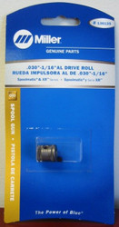 "Miller Genuine Drive Roll .030-1/16"" AL for Spoolmatic & XR Series - 136135"