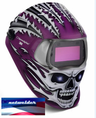 3M SPEEDGLAS 100V  VARIABLE WELDING HELMET - RAGING SKULL  07-0012-31RS