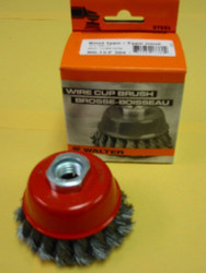 "WALTER WIRE CUP BRUSH 3""x5/8""-11 - QTY OF 1- 13-F-304"