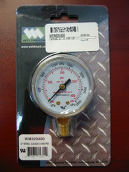 WELDMARK REPLACEMENT PRESSURE GAUGE - 400PSI - 2.0""