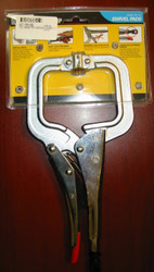 STRONG HAND LOCKING C-CLAMP PLIERS w/SWIVEL PADS PR115S