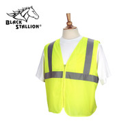 Black Stallion Mesh Safety Vest w/ Reflective Strips