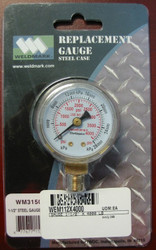 WELDMARK REPLACEMENT PRESSURE GAUGE - 4000PSI - 1.5""