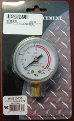 WELDMARK REPLACEMENT PRESSURE GAUGE - 30PSI - 2.0""