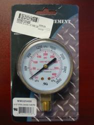 """WELDMARK REPLACEMENT PRESSURE GAUGE - 400PSI - 2.5"""""""