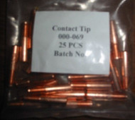 "MILLER CONTACT TIPS .045""  QTY/25  000069"