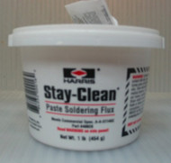 HARRIS STAY-CLEAN PASTE SOLDERING FLUX - 1lb tub