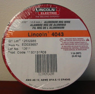 "Lincoln Electric 4043 Aluminum MIG Wire .035"" (.9mm) - 1 lb spl - ED033657"