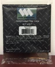 "SHADE 10  4.5""x5.25"" GOLD WELDING HELMET LENS"