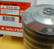 "WALTER GRINDING WHEELS 4.5""x1/4""x5/8""-11 - QTY/10"